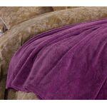 Κουβέρτα Fleece Υπέρδιπλη  2.40x2.20 Record  Mauve NEF-NEF