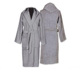 Μπουρνούζι με κουκούλα Comfort 775-Grey  NEF-NEF